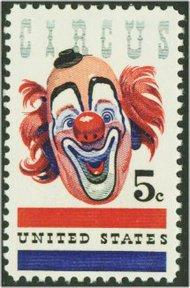 1309 5c Circus Clown F-VF Mint NH 1309nh