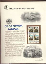 1831 15c Organized Labor USPS Cat. 131  Commemorative Panel cp131