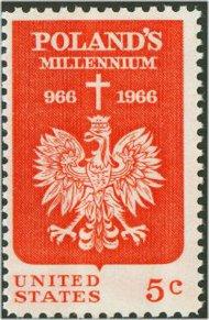 1313 5c Polish Millennium F-VF Mint NH 1313nh