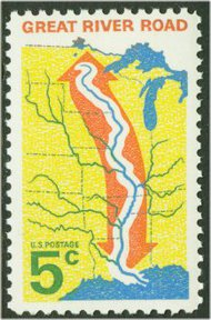 1319 5c Great River Road F-VF Mint NH 1319nh