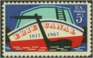 1325 5c Erie Canal F-VF Mint NH 1325nh