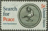 1326 5c Search For Peace F-VF Mint NH 1326nh