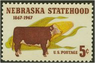 1328 5c Nebraska F-VF Mint NH 1328nh