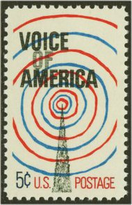 1329 5c Voice of America F-VF Mint NH 1329nh