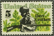 1330 5c Davy Crockett F-VF Mint NH 1330nh