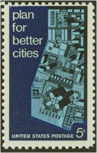 1333 5c Urban Planning F-VF Mint NH 1333nh