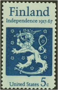 1334 5c Finnish Independence F-VF Mint NH 1334nh