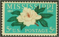 1337 5c Mississippi F-VF Mint NH 1337nh