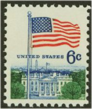 1338 6c Flag, Giori Press F-VF Mint NH 1338nh