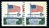 1338A 6c Flag Coil F-VF Mint NH Partial Line Pair 1338aplp