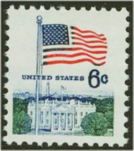 1338D 6c Flag, Huck Press F-VF Mint NH 1338dnh