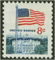 1338F 8c Flag, Huck Press F-VF Mint NH 1338fnh