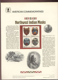 1834-37 15c Indian Masks USPS Cat. 134  Commemorative Panel cp134