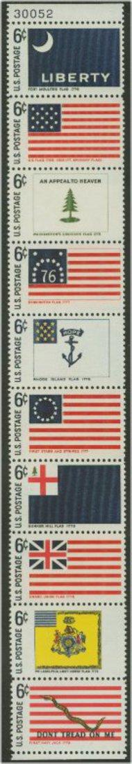1345-54 6c Historic Flags  Set of 10 Mint NH Singles  1345-54sglnh
