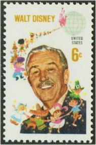 1355 6c Walt Disney F-VF Mint NH 1355nh