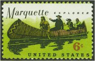 1356 6c Father Marquette F-VF Mint NH 1356nh