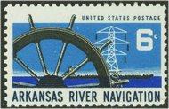 1358 6c Arkansas River F-VF Mint NH 1358nh