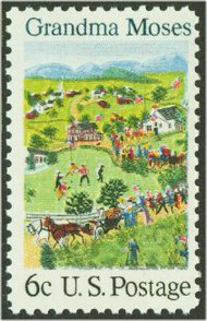 1370 6c Grandma Moses F-VF Mint NH Plate Block of 4 1370pb