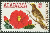1375 6c Alabama Statehood used 1375used