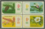 1376-9 6c Botanical Congress, Attached block of 4 F-VF Mint NH 1376nh