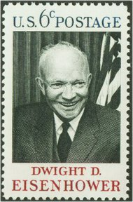 1383 6c Eisenhower F-VF Mint NH Plate Block of 4 1383pb
