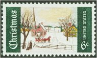 1384 6c Christmas Painting F-VF Mint NH Plate Block of 10 1384pb