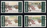 1384 Precancelled 4 Cities F-VF Mint NH 1384pc