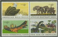 1387-90 1387-90 6c Natural History 4 Singles F-VF Mint NH 1387sgl