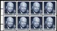 1393a 6c Eisenhower, Booklet Pane of 8 F-VF Mint NH 1393anh