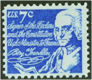 1393D 7c Benjamin Franklin F-VF Mint NH 1393DNH