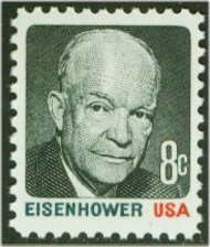 1394 8c Eisenhower, Black & Red F-VF Mint NH 1394NH