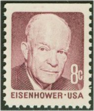 1395 8c Eisenhower, claret, [from booklet} F-VF Mint NH 1395nh
