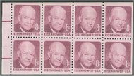 1395a 8c Eisenhower, Booklet Pane of 8 F-VF Mint NH 1395anh