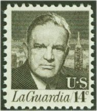 1397 14c F. LaGuardia F-VF Mint NH Plate Block of 4 1397pb