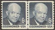 1401 6c Eisenhower Coil F-VF Mint NH Line Pair 1401lp