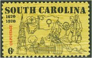 1407 6c South Carolina F-VF Mint NH 1407nh