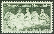 1408 6c Stone Mountain F-VF Mint NH 1408nh