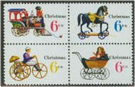 1415-8 6c Christmas Toys F-VF Mint NH Plate Block of 8 1415pb