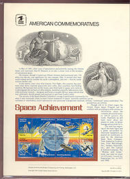 1912-18 18c Space Achievements USPS Cat. 143  Commemorative Panel cp143