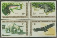 1427-30 8c Wildlife 4 Singles F-VF Mint NH 1427sgl
