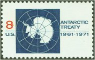 1431 8c Antarctic Treaty F-VF Mint NH 1431nh