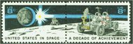 1434-5 8c Space Achievement 2 Singles F-VF Mint NH 1434sgl