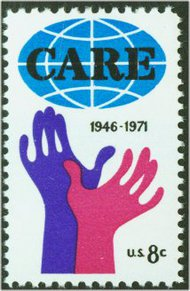 1439 8c CARE F-VF Mint NH 1439nh