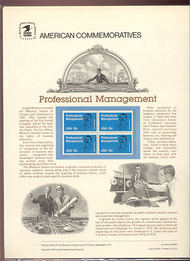 1920 18c Professional Management USPS Cat. 144  Commemorative Panel cp144