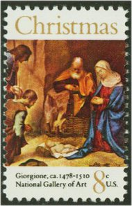 1444 8c Christmas Painting F-VF Mint NH 1444nh
