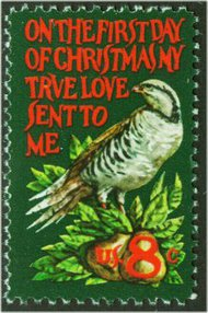 1445 8c Christmas Partridge F-VF Mint NH 1445nh