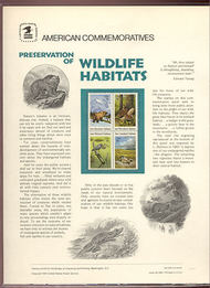 1921-24 18c Wildlife Habitats USPS Cat. 145 Commemorative Panel cp145