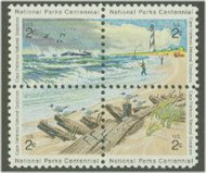 1448-51 2c Cape Hatteras, Attached block of 4 F-VF Mint NH 1448NH