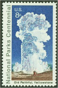 1453 8c Old Faithful F-VF Mint NH Plate Block of 4 1453pb