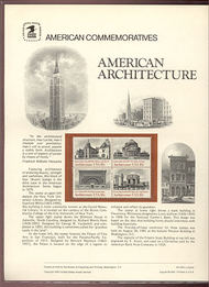 1928-31 18c American Architecture USPS Cat. 148  Commemorative Panel cp148